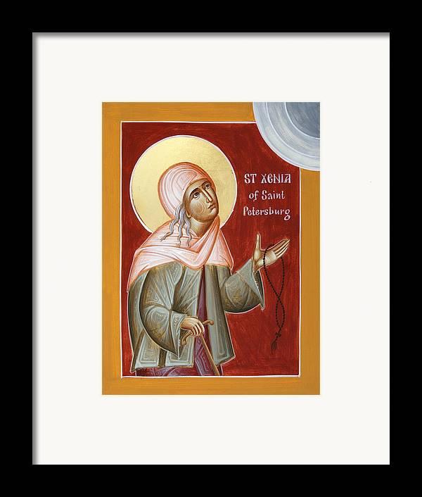 St Xenia Of St Petersburg Framed Print featuring the painting St Xenia Of St Petersburg by Julia Bridget Hayes