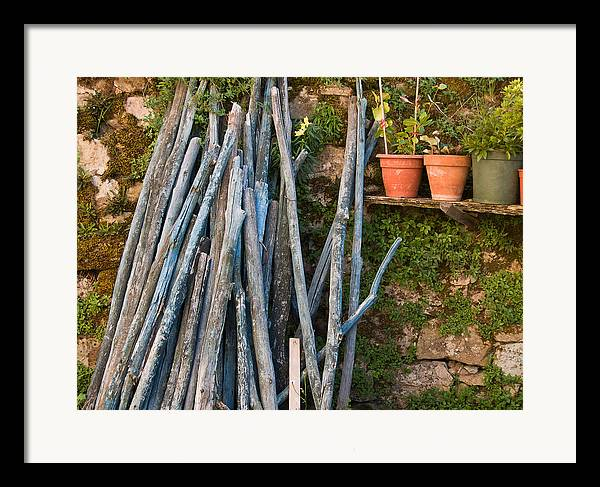 Wood Framed Print featuring the photograph Stacked Wood by Jim DeLillo