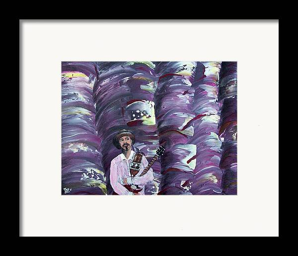 Abstract Framed Print featuring the painting Stage Fright by Tony Rodriguez