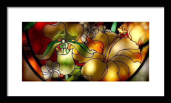 Colors Framed Print featuring the painting Stained Glass by Craig Incardone