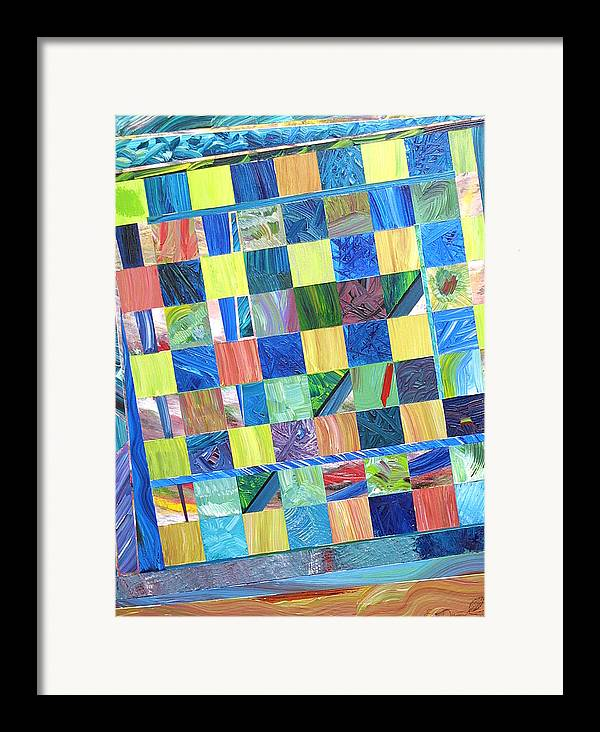 Chess Board Framed Print featuring the painting Stained Glass Sanctuary by Eric Devan