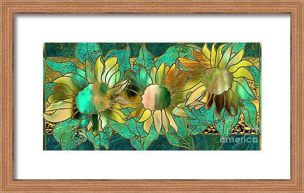 Stained Glass Sunflowers by Mindy Sommers