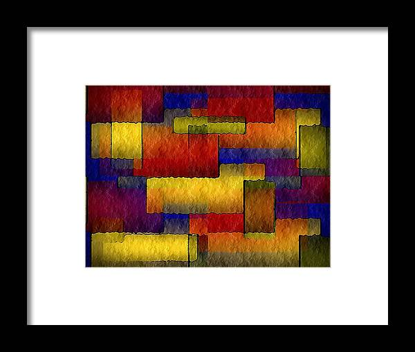 Stained Framed Print featuring the painting Stained Glass Wall by Terry Mulligan