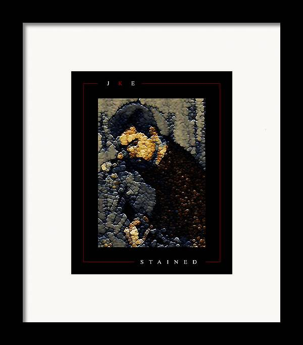 Guitar Framed Print featuring the photograph Stained by Jonathan Ellis Keys