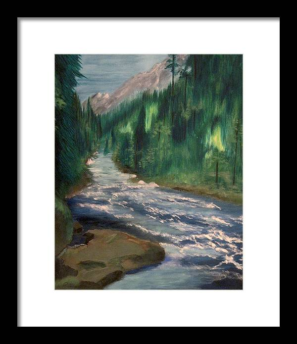 Staircase Rapids Framed Print featuring the painting Staircase Rapids by Richard Beauregard