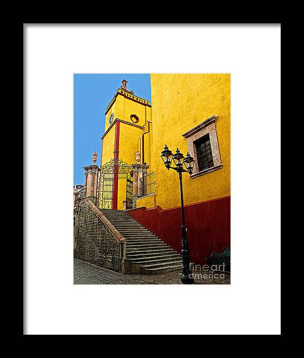 Darian Day Framed Print featuring the photograph Staircase With Gate by Mexicolors Art Photography