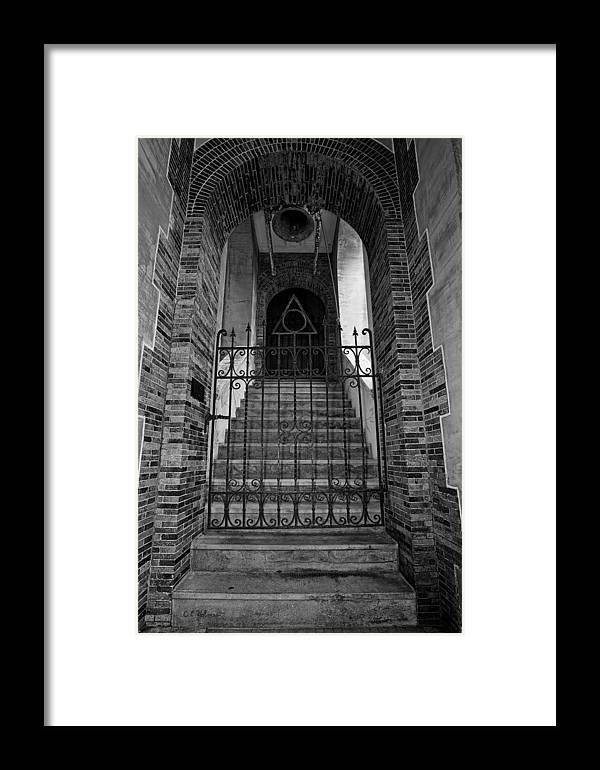 Stairs Framed Print featuring the photograph Stairs Beyond B-w by Christopher Holmes
