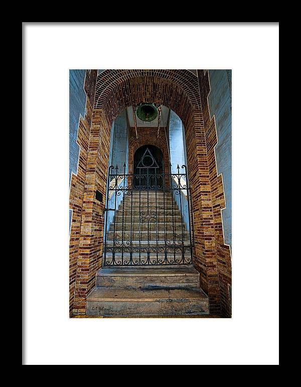 Architecture Framed Print featuring the photograph Stairs Beyond by Christopher Holmes