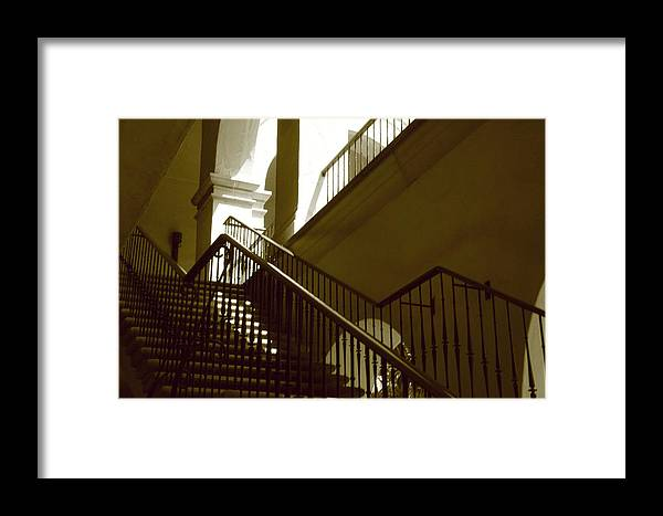 Stairs Framed Print featuring the photograph Stairs To 2nd Floor by Nicholas J Mast