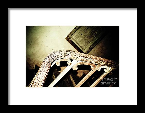 Wooden Stairs Framed Print featuring the photograph Stairs To .... by Kathryn Goddard