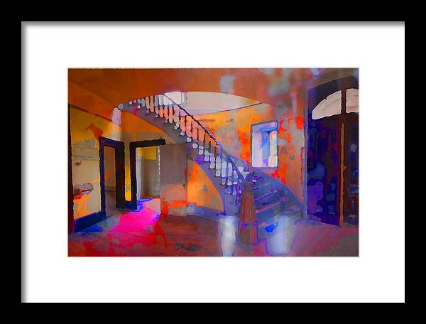 Stairs Framed Print featuring the photograph Stairway by Danielle Stephenson