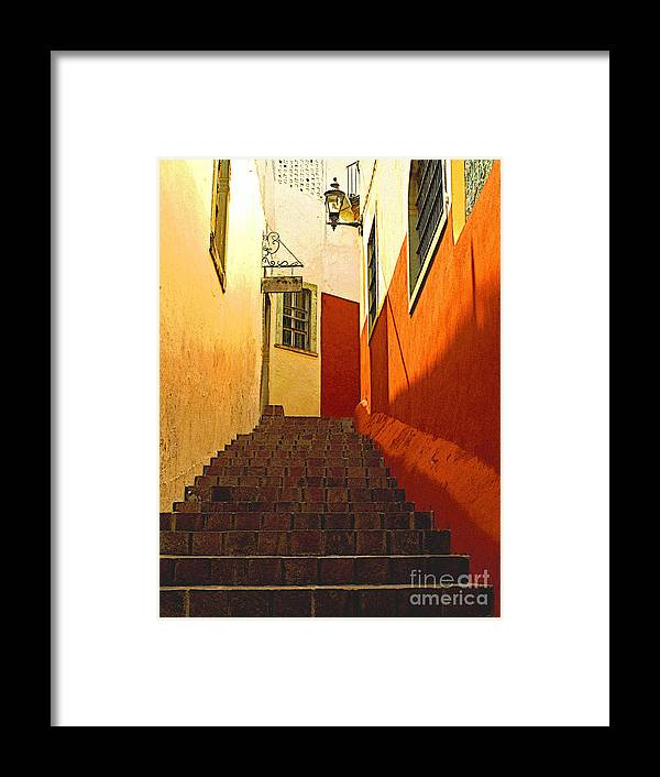 Darian Day Framed Print featuring the photograph Stairway Guanajuato by Mexicolors Art Photography