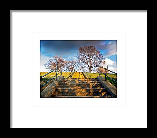 Stairway Framed Print featuring the photograph Stairway To Federal Hill by Brian Wallace