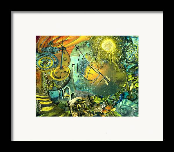 Science Framed Print featuring the painting Stairway To Heaven by Anne Weirich
