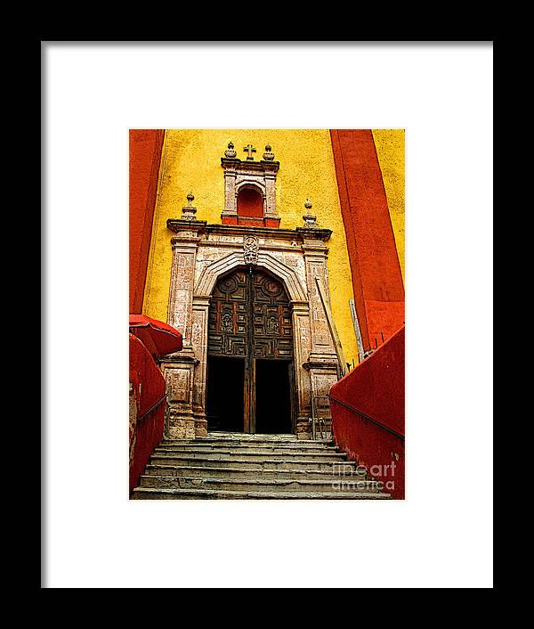 Darian Day Framed Print featuring the photograph Stairway To The Cathedral by Mexicolors Art Photography