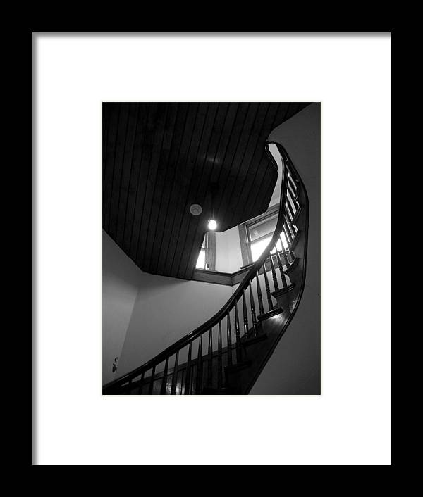 Stairs Framed Print featuring the photograph Stairwell To The Studio Crow's Nest by Robert Boyette