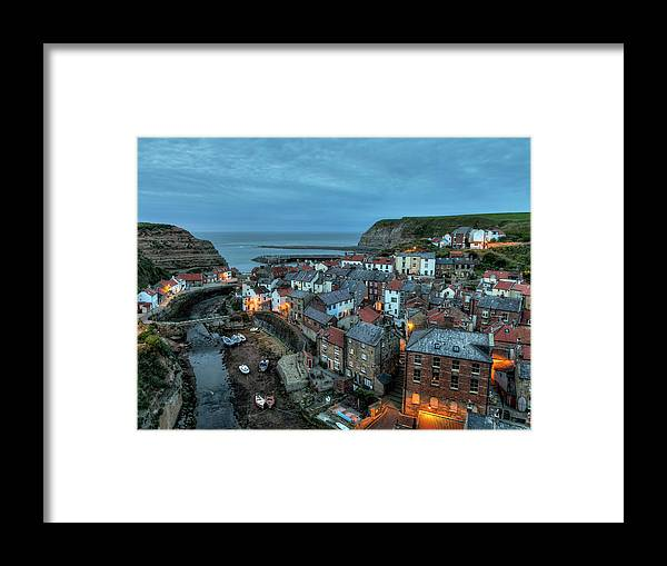 Staithes Framed Print featuring the photograph Staithes Evening by Graham Moore