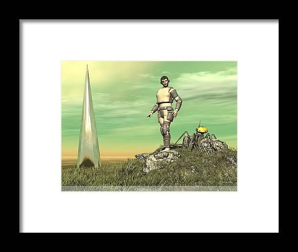 Jim Coe Framed Print featuring the digital art Staking Their Claim by Jim Coe