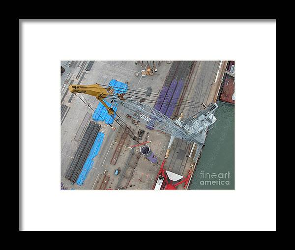 Bridges Framed Print featuring the photograph Standing A Column by Jerry Patchin