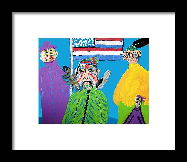 Framed Print featuring the painting Standing Proud by Betty Roberts