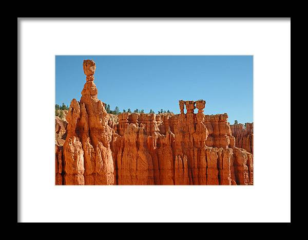 Bryce Canyon Framed Print featuring the photograph Standing Tall In Bryce Canyon by Bruce Gourley