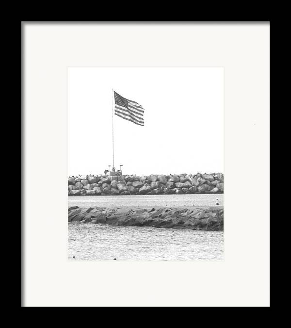 Flag Framed Print featuring the photograph Stands Alone by Shari Chavira
