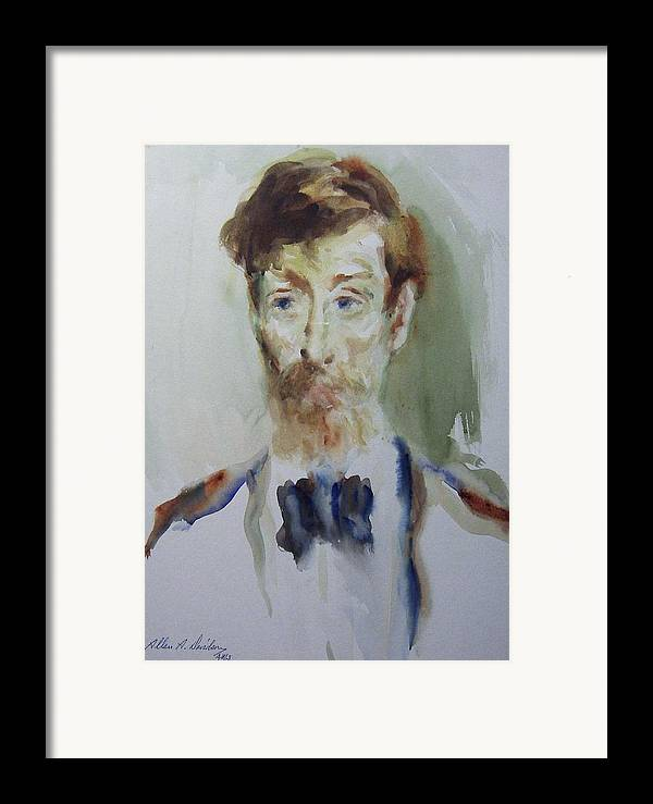 Portrait Framed Print featuring the painting Stanley Simmons 1976 by Allan Albert Davidson