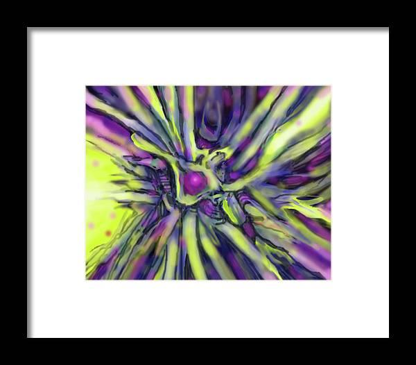 Abstract Framed Print featuring the digital art Star Burst by Ian MacDonald