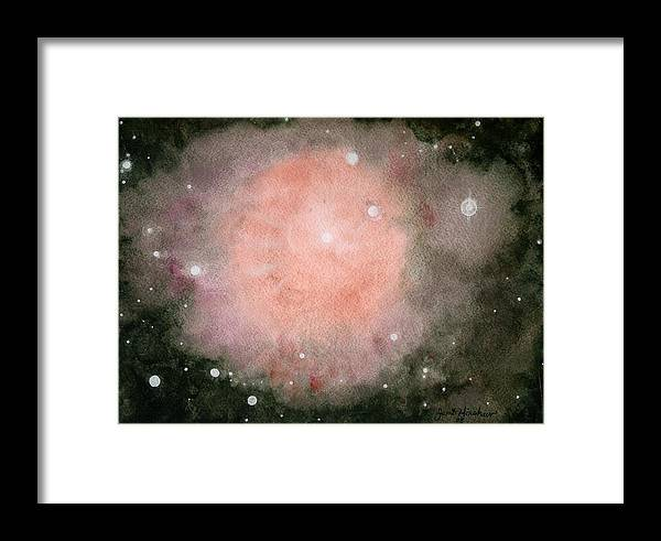Atmospheric Framed Print featuring the painting Star Burst by Janet Hinshaw