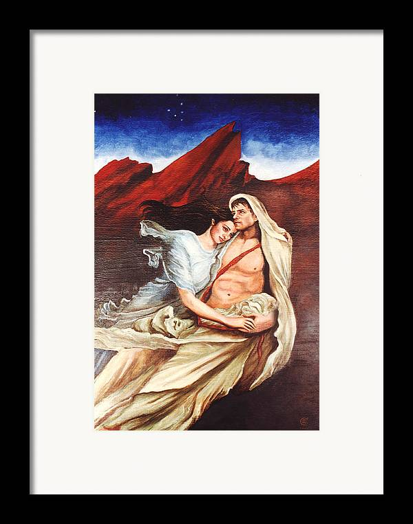 Portrait Framed Print featuring the painting Star Crossed Lovers by Teresa Carter