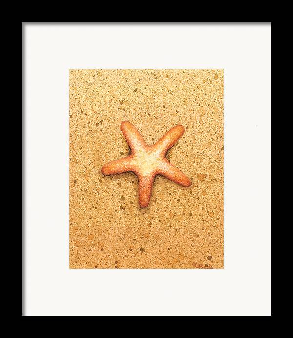 Print Framed Print featuring the painting Star Fish by Katherine Young-Beck