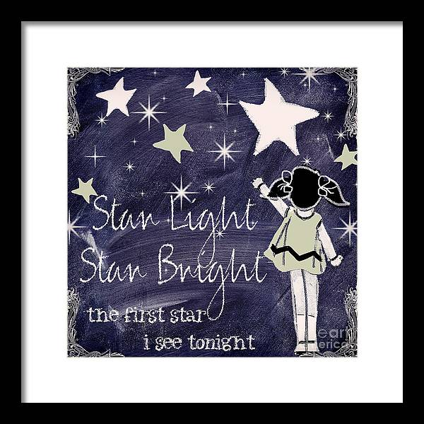 Star Light Star Bright Chalk Board Nursery Rhyme by Mindy Sommers
