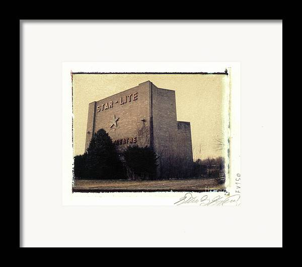 Polaroid Framed Print featuring the photograph Star-lite Drive-in by Steven Godfrey