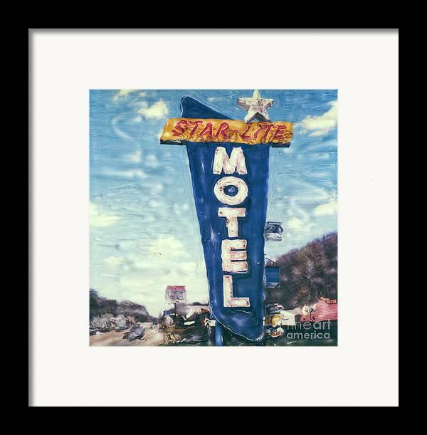 Polaroid Framed Print featuring the photograph Star-lite Motel by Steven Godfrey