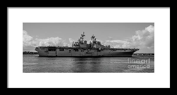 Uss Framed Print featuring the photograph Starboard Boxer by Richard Booth