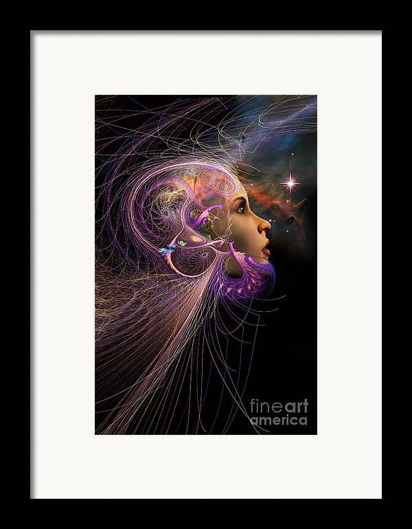Starchild Framed Print featuring the digital art Starborn by John Edwards