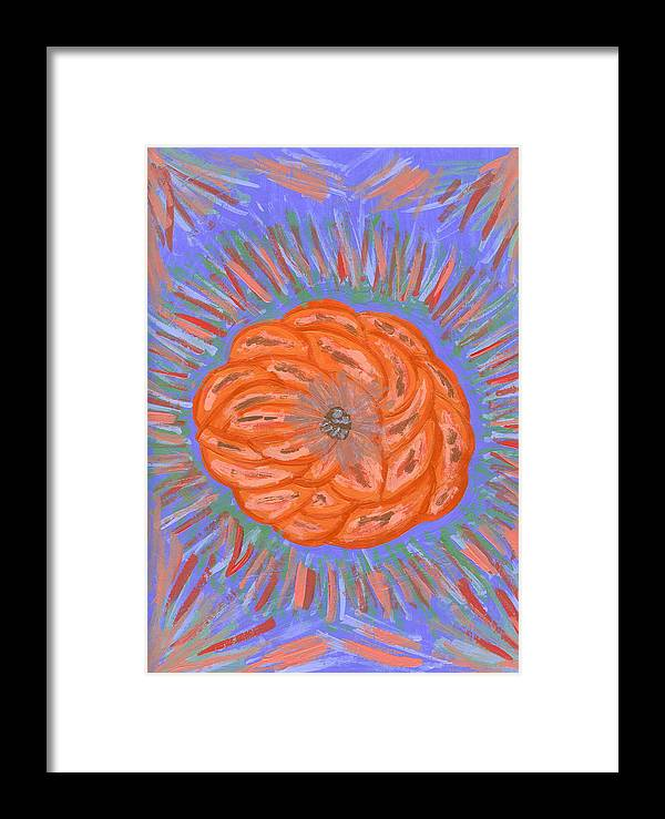 Flower Framed Print featuring the painting Starburst by Laura Lillo