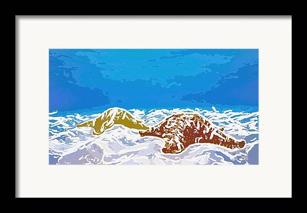 Adventure Framed Print featuring the painting Starfish 1 by Lanjee Chee