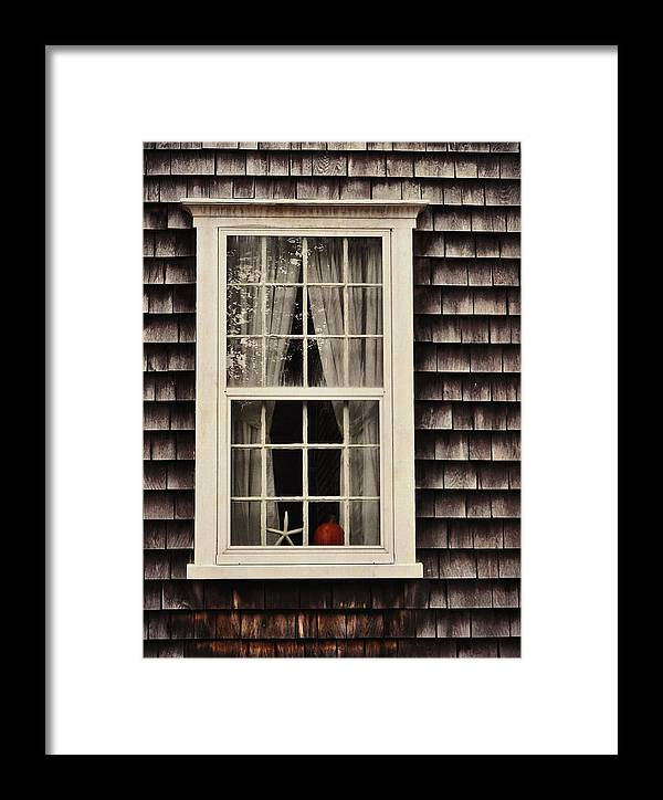 Window Framed Print featuring the photograph Starfish Wish by JAMART Photography