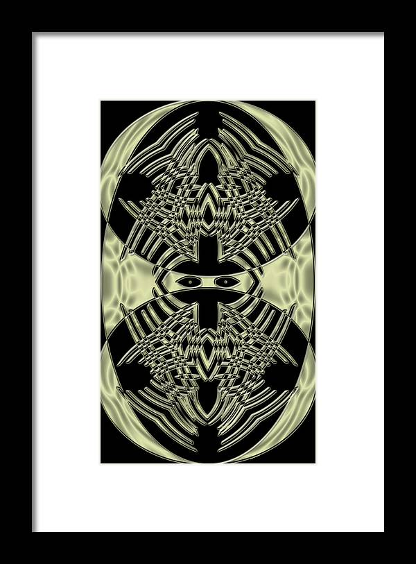 Digital Art Framed Print featuring the digital art Staring At Me by Evelyn Patrick