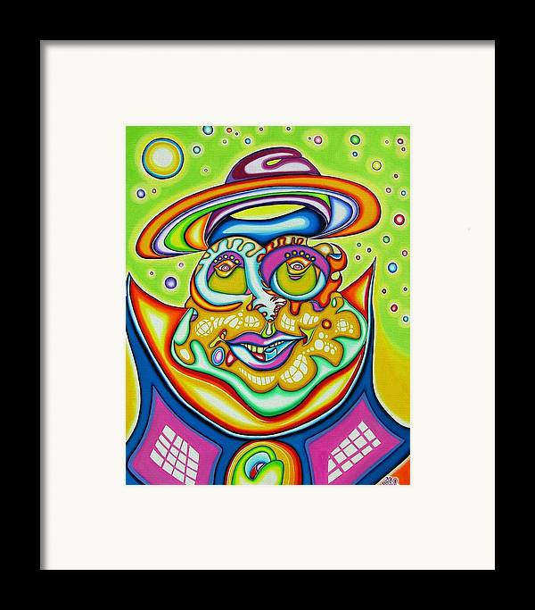 Fantasy Framed Print featuring the painting Starman Prophet by      Gillustrator