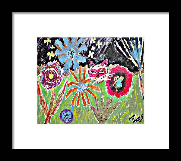 Night Framed Print featuring the painting Starry Night by Christopher Thames