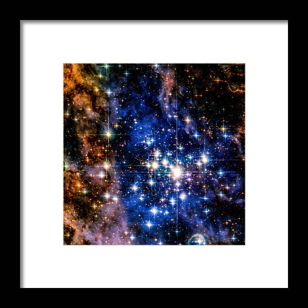 Hubble Framed Print featuring the photograph Starry Night by Mark Sellers