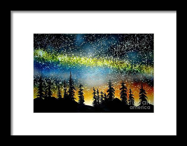 Stars Framed Print featuring the mixed media Starry Starry Night by Ed Moore