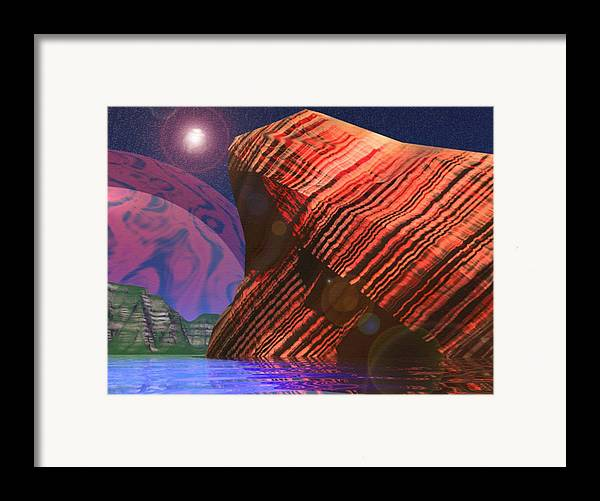 Cilff Framed Print featuring the digital art Stars And Might by Adam Wells