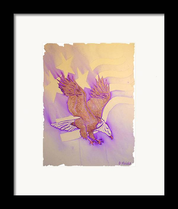 Eagle Framed Print featuring the mixed media Stars And Stripes by Mark Schutter