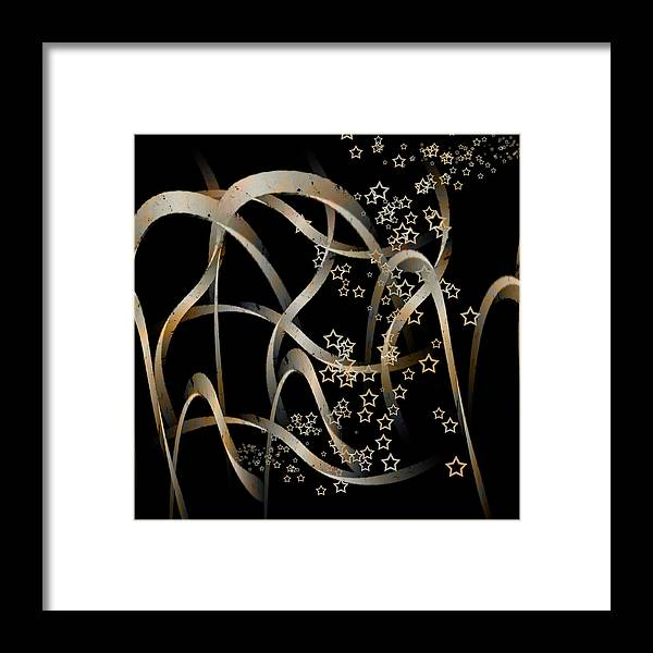Shape Framed Print featuring the mixed media Stars And Waves by Martine Affre Eisenlohr