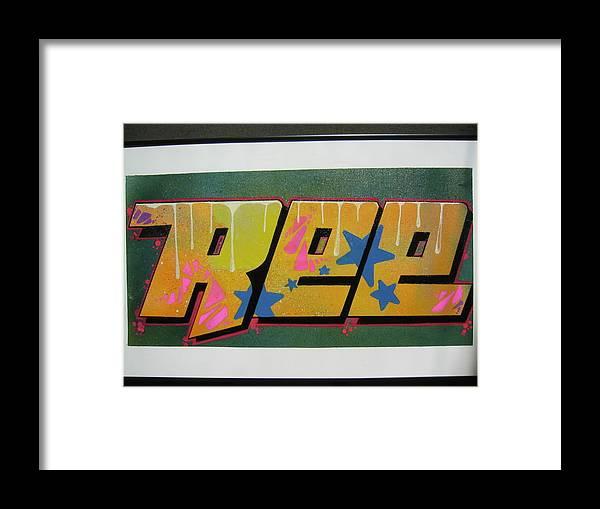 Aerosol....graffiti Art Framed Print featuring the mixed media Stars by Ree Vilomar