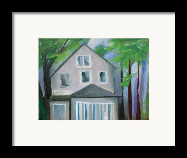 Suburbanscape Framed Print featuring the painting Staten Island House by Ron Erickson