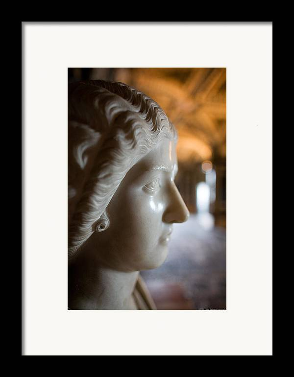 Italy Framed Print featuring the photograph Statue by Luigi Barbano BARBANO LLC